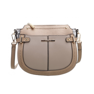 Hnedožltá crossbody kabelka Bessie London