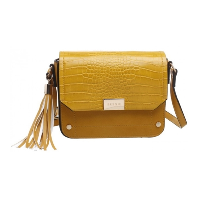 Crossbody kabelka Bessie London žltá