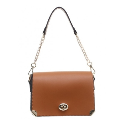 Camel elegantná crossbody kabelka Bessie London