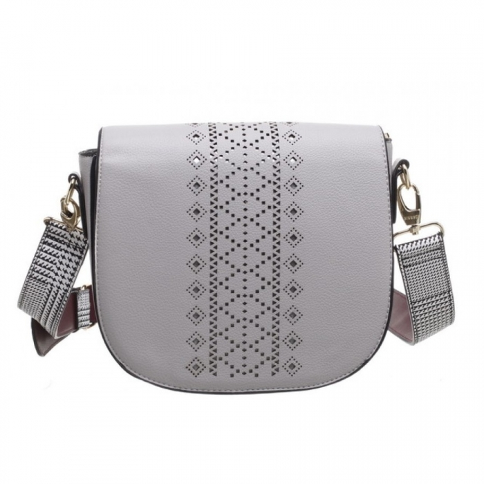 Sivá crossbody kabelka Bessie London