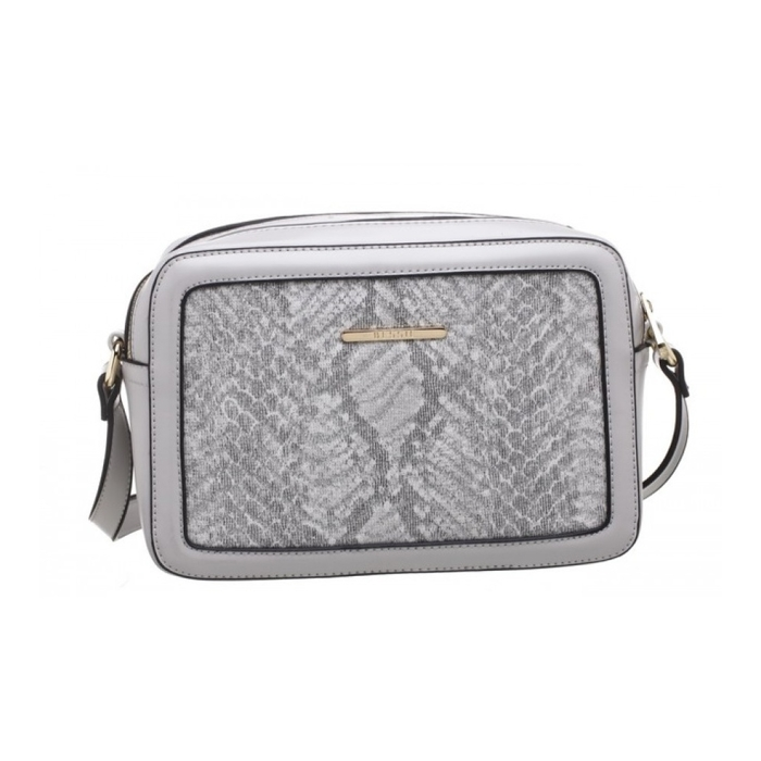 Sivá crossbody hadia kabelka Bessie London